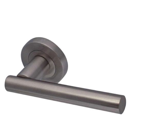 Frelan 'Petra' Satin Nickel Door Handles - JV508SN (sold in pairs)