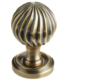 Parisian Clarisse Mortice Door Knob, Antique Bronze - JV635AB (sold in pairs)