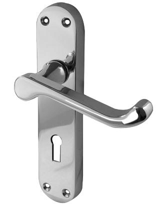 u0027Abbeyu0027 Polished Or Satin Chrome Door Handles - JV670 (sold in pairs)  sc 1 st  Door Handle Company & Abbeyu0027 Polished Or Satin Chrome Door Handles - JV670 (sold in pairs ...