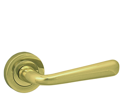 'Laguna' Polished Brass Door Handles - JV720PB (sold in pairs)