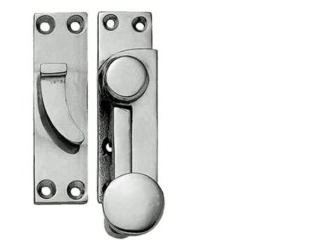 Quadrant Sash Window Fasteners (70mm), Polished Chrome, Satin Chrome Or Polished Brass - JV83