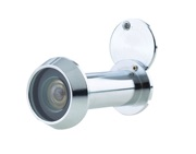 Jedo Collection Fire Tested 200 Degree Door Viewer (Comes With Intumescent Strip), Polished Chrome - JV942PC