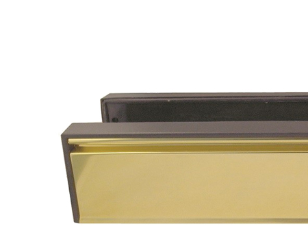 Telescopic PVCu Sleeved Letterplate, (295mm x 71mm) Gold Anodised - JW80G
