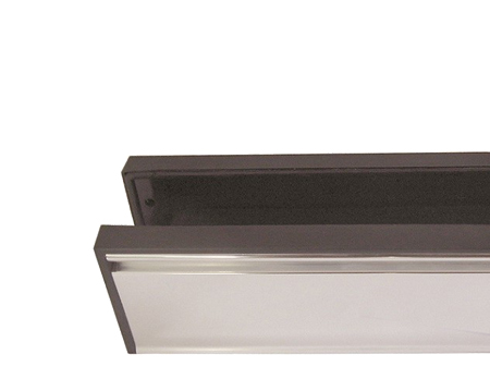 Telescopic PVCu Sleeved Letterplate, Silver Finish - JW80S