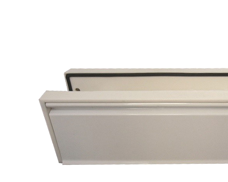 Telescopic PVCu Sleeved Letterplate, White (Size 295mm x 71mm) - JW80WH
