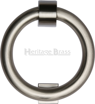 Heritage brass ring door knocker satin nickel k1270 sn - Door knocker nickel ...