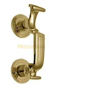 'Doctor' Door Knocker, Polished Brass - K1300-PB