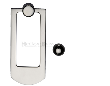 Heritage Brass Contemporary Door Knocker, Polished Nickel - K1320-PNF
