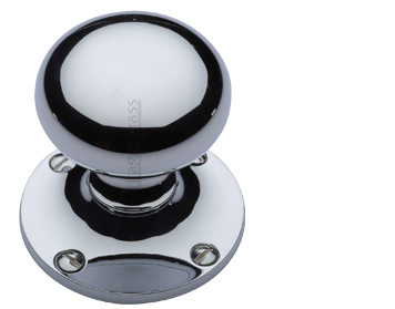 Heritage Brass 'Kensington' Mortice Door Knob, Polished Chrome - KEN980-PC (sold in pairs)