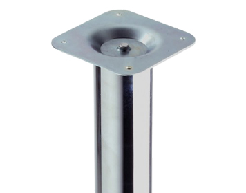 Rothley 400mm High, Low Table Leg, 60mm Dia, Polished Chrome - L040XC
