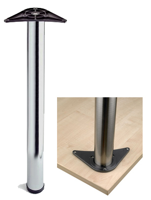 Rothley 710mm High, Table Leg, 60mm Dia, Polished Chrome - L074XC Clearance