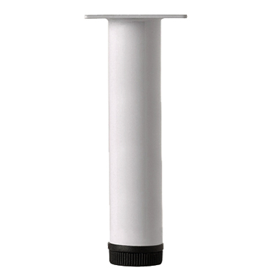 Furniture Legs, Various Heights, 32mm Dia, White - L11XW