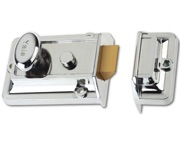 YALE 77 Non-Deadlocking Traditional Nightlatch, Polished Chrome - L11720