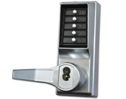 KABA LP1000 Series Front Only Digital Lock To Suit Panic Latch With Key Override, Satin Chrome - L12014