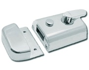 Legge P789 Deadlocking Nightlatch, Silver Case With Polished Brass Cylinder - L18022