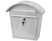 G2 Humber Post Box (370mm x 365mm x 135mm), White - L21639