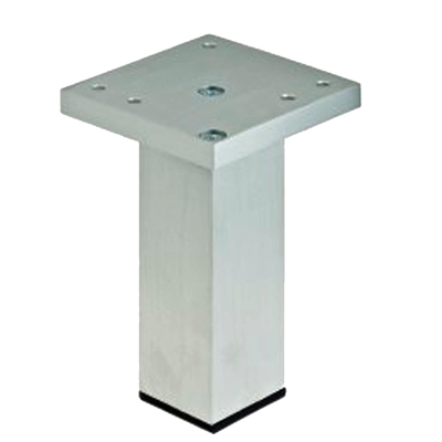Rothley Square Furniture Leg, Height 110mm, Aluminium Effect - L506XP