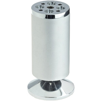 Rothley Round Furniture Leg, 120mm-125mm, Aluminium Effect - L507XP None