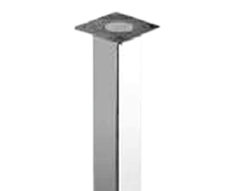 Rothley 370mm High, Square Low Table Leg, 50mm Square, Polished Chrome - L403XC