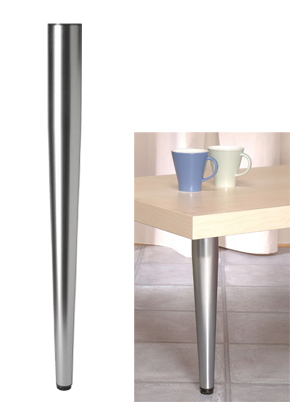 710mm High Tapered Table Legs 60mm Dia Polished Chrome