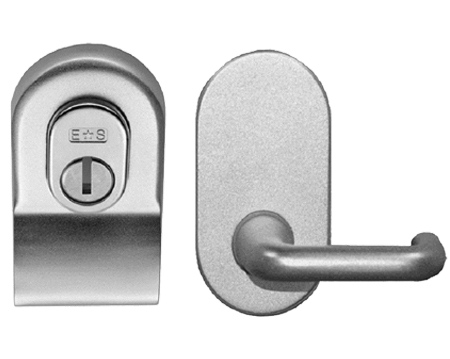 Eurospec Euro Security Cylinder Pull With Mini Lever, Polished Chrome Or Satin Chrome - LCP1000