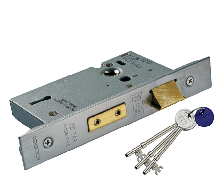 'Architectural' 3 Lever Sash Locks, Silver Or Brass Finish - LSS53