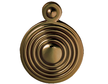 Carlisle Brass Queen Anne Reeded Covered Standard Profile Escutcheon, Florentine Bronze - M1000FB