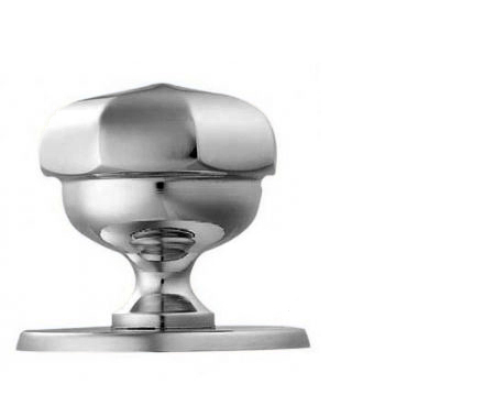 Carlisle Brass Victorian Centre Door Knob (Octagonal), Polished Chrome - M219CP