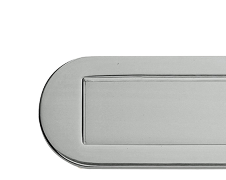 RADIUSED LETTER PLATES, POLISHED CHROME OR SATIN CHROME - M304