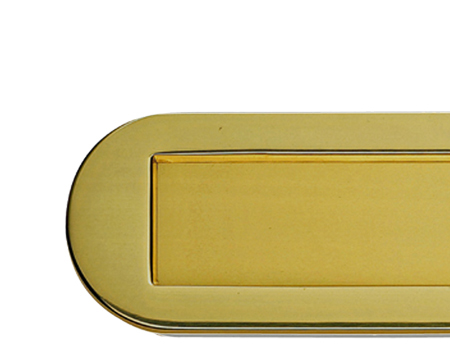 RADIUSED LETTER PLATE, POLISHED BRASS - M304PB