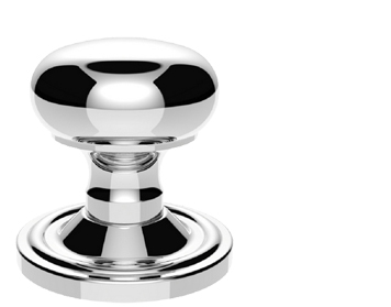 Carlisle Brass Victorian Mushroom Mortice Door Knobs (Concealed Fix), Polished Chrome - M35CCP