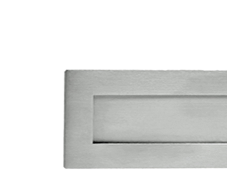 SATIN CHROME PLAIN LETTER PLATES, VARIOUS SIZES - M36SC