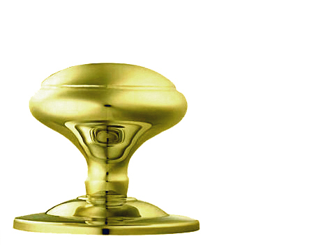 Carlisle Brass Victorian Centre Door Knob, Polished Brass - M61PB