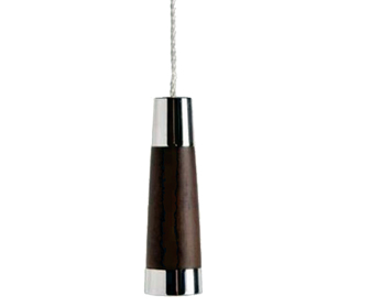 Prima Conical Cord Pull (60mm), Dark Oak & Polished Chrome - M699C