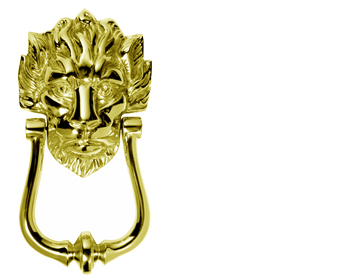 10 Downing Street' Door Knocker, Polished Brass - MB10PB