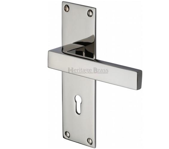 Heritage Brass Metro Low Profile Polished Nickel Door