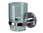 Prima Lily Collection Clear Glass Tumbler Holder, Polished Chrome - ML03