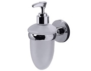 Prima Lily Collection Frosted Glass Liquid Soap Dispenser, Polished Chrome - ML34