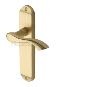 Heritage Brass 'Algarve' Satin Brass Door Handles - MM924-SB (sold in pairs)