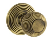 Atlantic Ripon Old English Solid Brass Reeded Mortice Knob, Matt Antique Brass - OE50RMKMAB (sold in pairs)