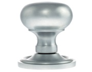 Atlantic Harrogate Old English Solid Brass Mushroom Mortice Knob, Satin Chrome - OE58MMKSC (sold in pairs)