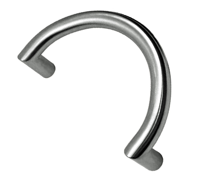 '32mm' Diameter Semi Circular Pull Handles, 300mm Centres, Satin Or Polished Finish - P63BT/300