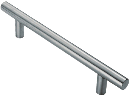 Eurospec Straight T Pull Handles (19mm Diameter Bar), Polished Or Satin Stainless Steel - PAT