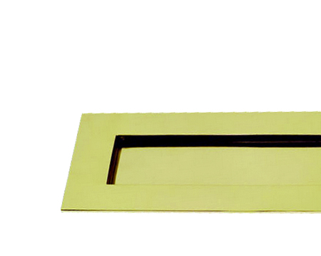 HORIZONTAL VICTORIAN LETTER PLATE, VARIOUS SIZES, POLISHED BRASS - PB04