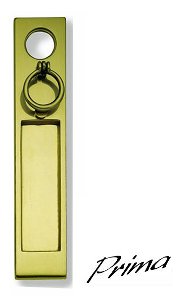 Vertical Trinity Letter Plate Polished Brass Pb06 From