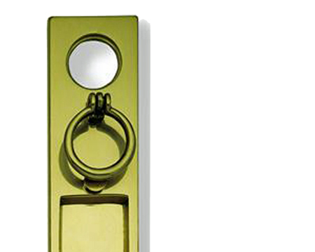 Vertical Trinity Letter Plate, Polished Brass - PB06