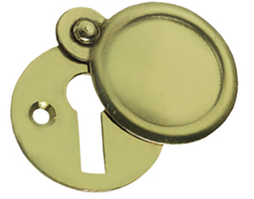 Prima Round Standard Profile Covered Escutcheon, Polished Brass - PB103