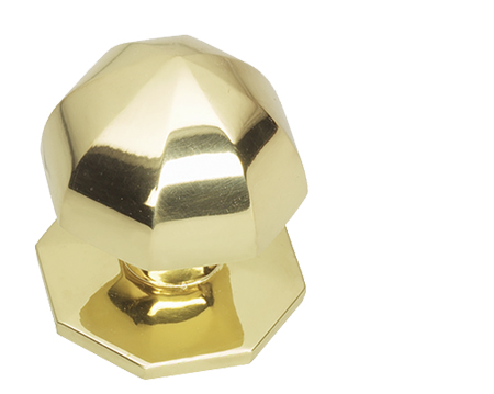 Prima Umbrella Centre Door Knob, Polished Brass - PB12A