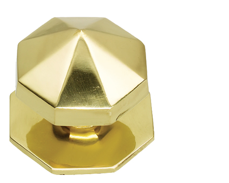 Prima Carousel Centre Door Knob, Polished Brass - PB12B