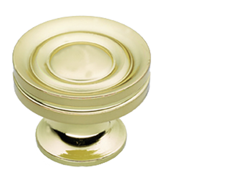 Prima Stepped Cupboard Knobs (25mm, 32mm Or 38mm), Polished Brass - PB1301